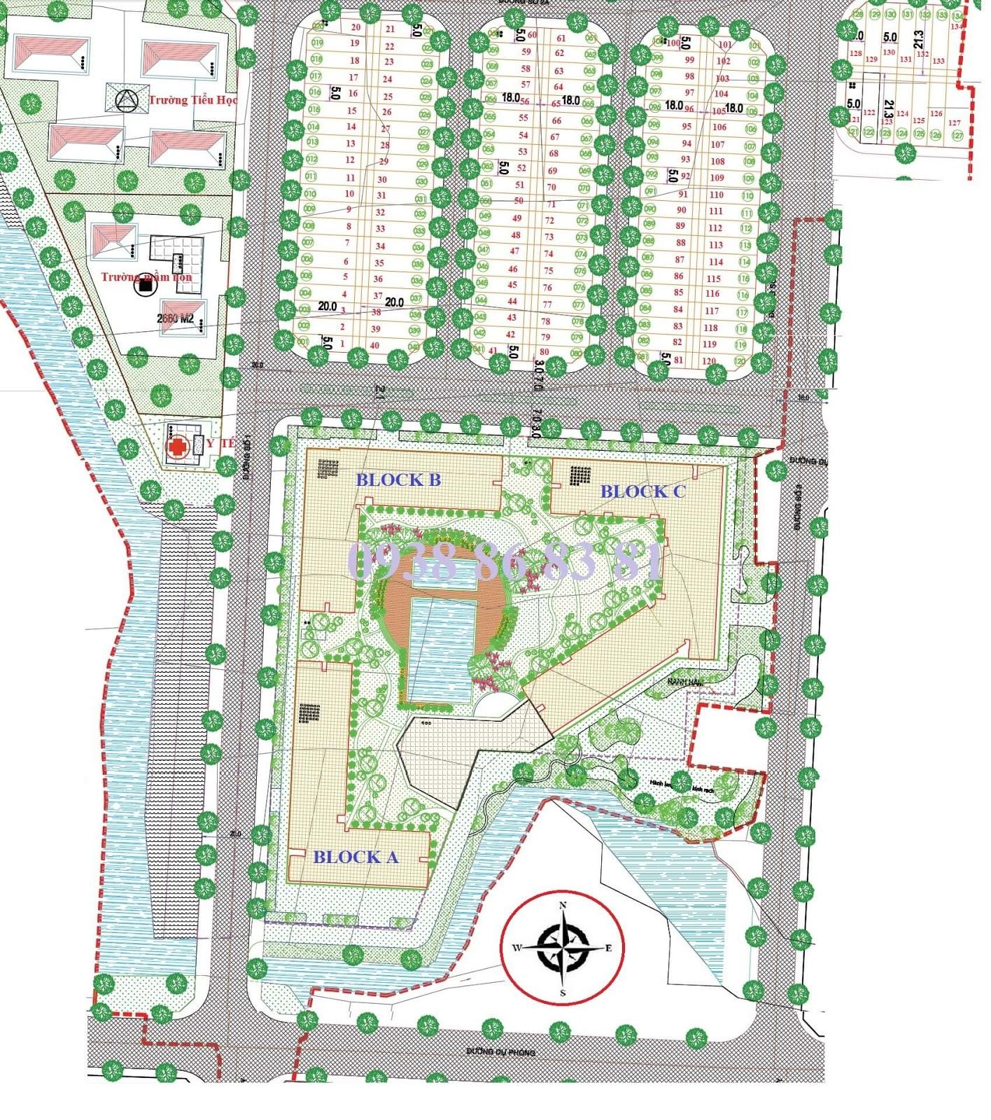 Tổng quan Mặt bằng toàn Khu phức hợp Căn hộ - Nhà phố dự án NBB Garden 3