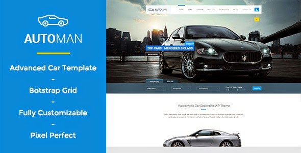 car dealer website psd template