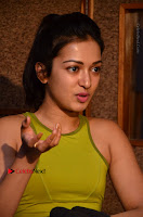 Actress Catherine Tresa Pos during Self Dubbing for Gautham Nanda Movie  0071.JPG