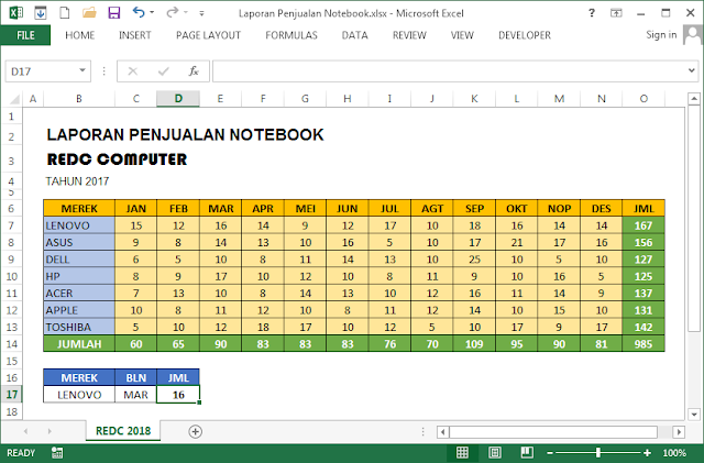 Soal Latihan Excel