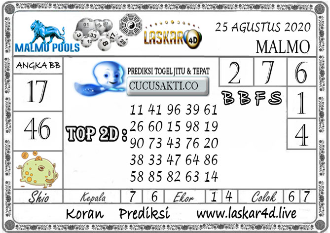 Prediksi Togel MALMO LASKAR4D 25 AGUSTUS 2020