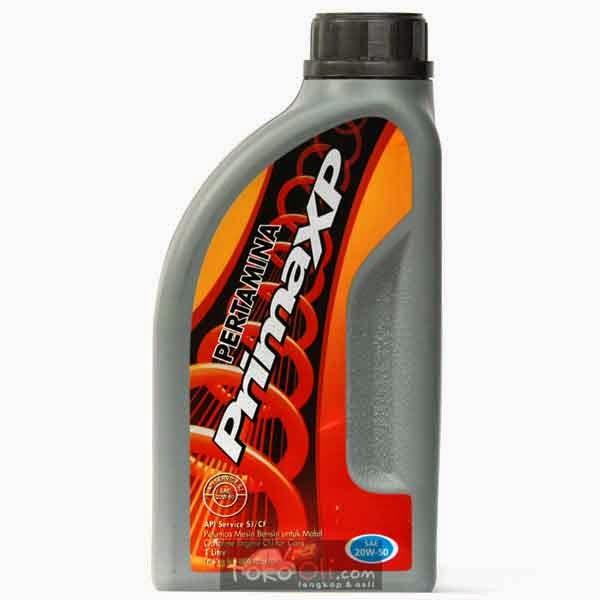 Pertamina Prima XP 20W 50 SI 1 Liter Oli Mesin Mobil Motor Berbahan Bakar Bensin Dengan SAE Harga Rp31000