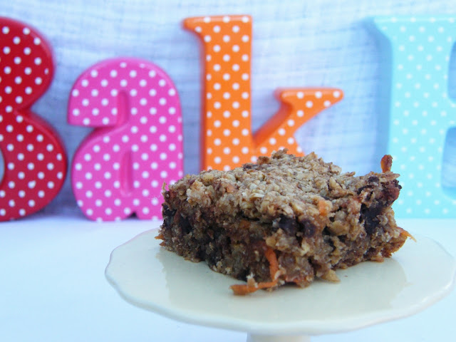 Carrot, Banana and Chocolate Chip Flapjacks