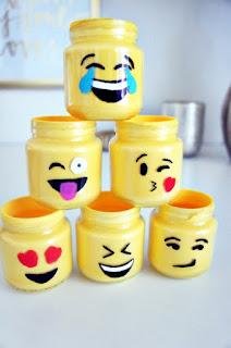 DIY Emoji Mason Jars