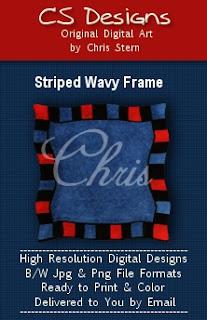 Wavy Frame digital stamp