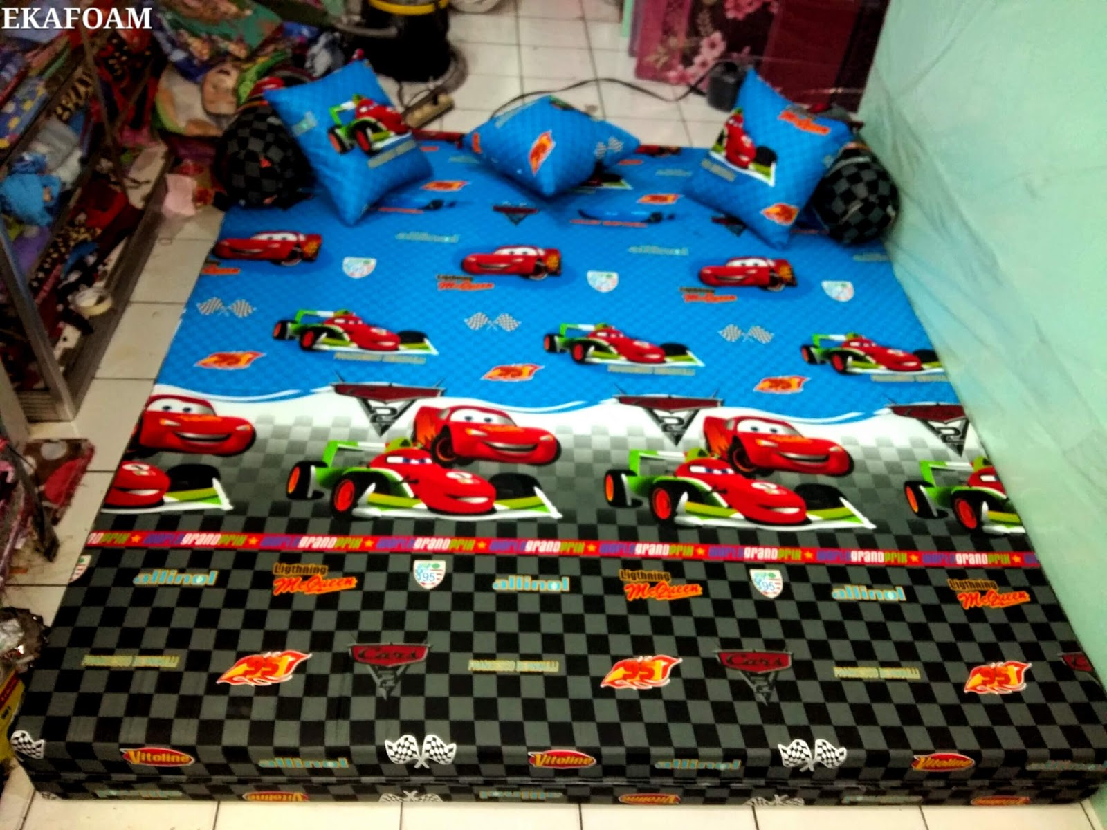 SOFA BED INOAC MOTIF THE CAR AGEN RESMI KASUR BUSA INOAC Inoac