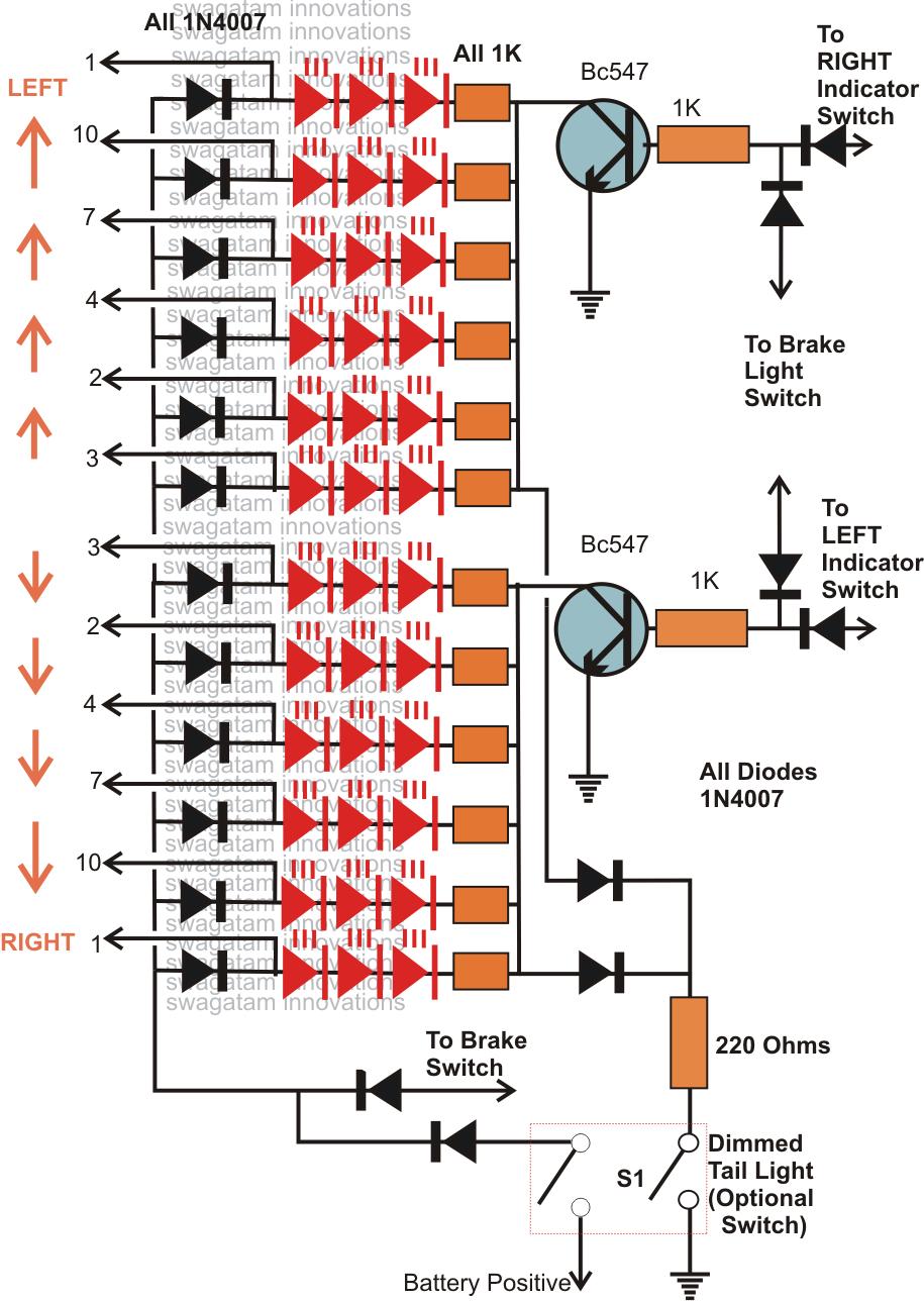 Automatic Led Emergency Light Circuit Diagram