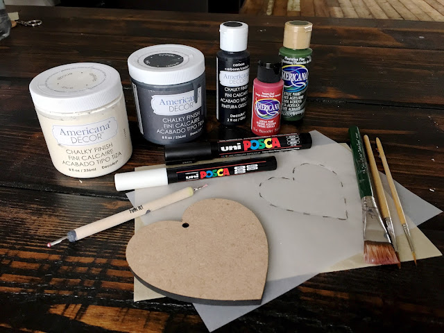 All the art supplies we need to create wedding decorations on a budget