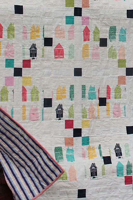 Irish Chain quilt from Irish Chain Quilt book - fabric from Happy Home by Sew Caroline