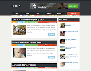 Codify Magazine Free Blogger Template