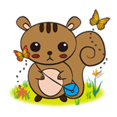 The Little Squirrel- Bebe