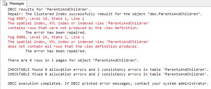 Repairing the errors