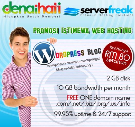Promosi istimewa web hosting Denaihati Network - Serverfreak