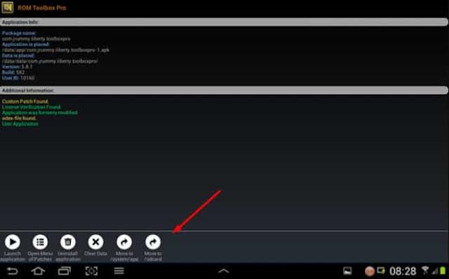 memindahkan aplikasi ke memori di android menggunakan lucky patcher