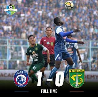Arema FC Kalahkan Persebaya 1-0