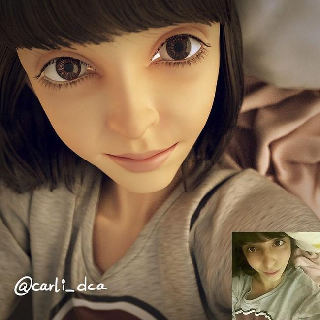 As incríveis transformações de pessoas em desenhos 3D do artista Lance Phan