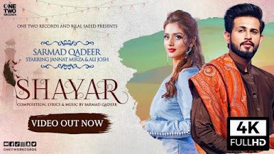 Shayar lyrics - Sarmad Qadeer | Jannat Mirza | Ali Josh. Asi taare ginan de vi hun mahir ho gaye aa teri yaad ch likh likh ke Shayar ho gaye aa