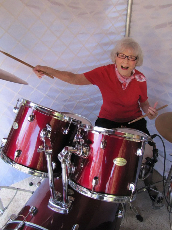 106-Year-Old Woman Has Been Drumming For 80 Years, And She's Still Got It