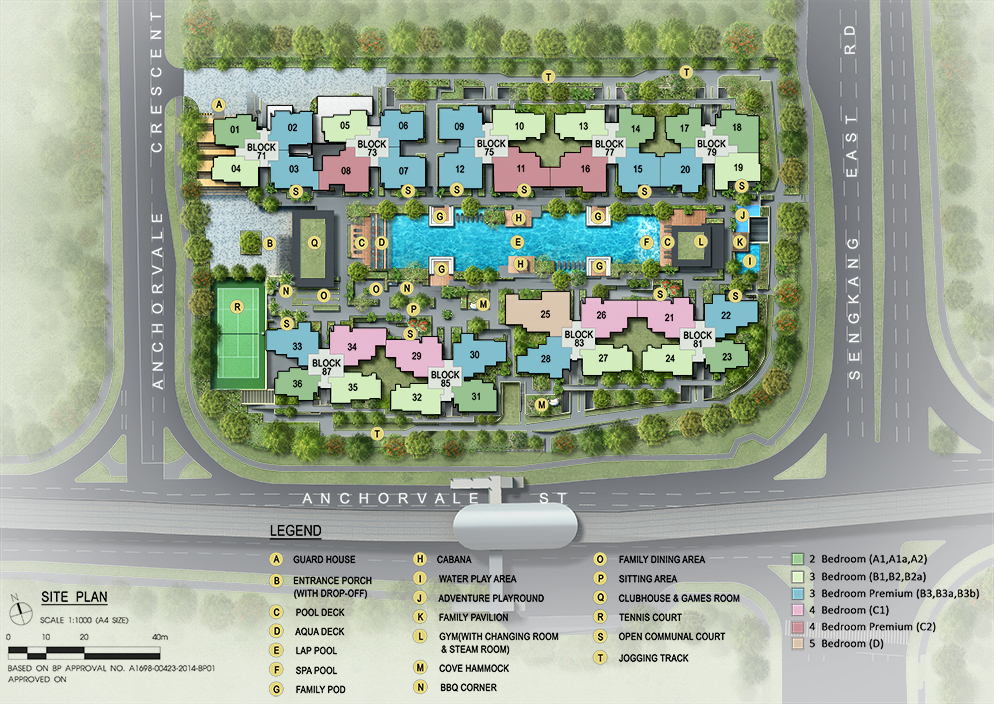 The Vales Site Plan