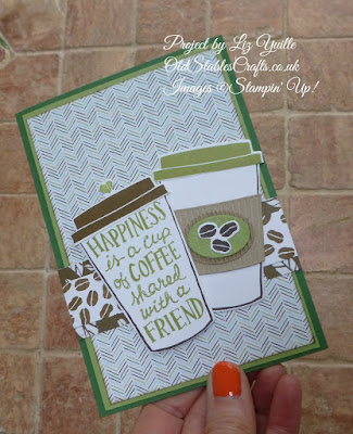 Coffee Cafe Friendship Card in Pear Pizzazz