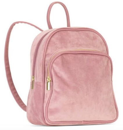 Walmart No Boundaries Women's Velvet Mini Backpack