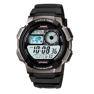 Casio Digital AE-1000W-1BVDF warna hitam