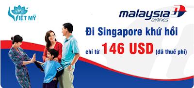 Vé máy bay đi Singapore hãng Malaysia Airlines