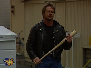 WWE / WWF - WRESTLEMANIA 12 - Rowdy Roddy Piper waits for Goldust in their Hollywood Backlot Brawl