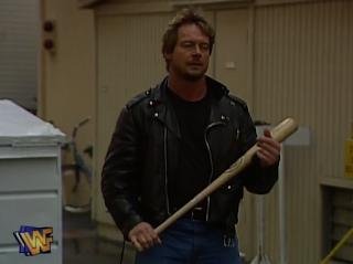 WWE / WWF - WRESTLEMANIA 12 - Rowdy Roddy Piper waits for Goldust in their Hollywood Backlot Brawl