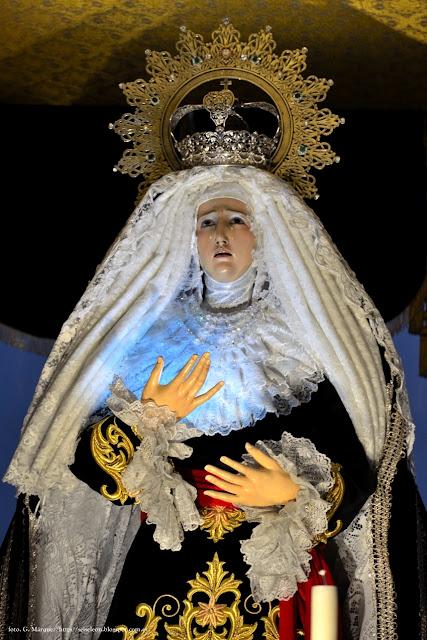 Virgen de la Soledad. Real cofradía de Minerva y Vera Cruz. León. Foto. G. Márquez.