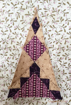 Dear Jane Quilt - Border Triangle Block BR3 Attic Window