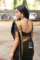 Poorna in Cute Backless Choli Saree Stunning Beauty at Avantika Movie platinum Disc Function ~  Exclusive 055.JPG