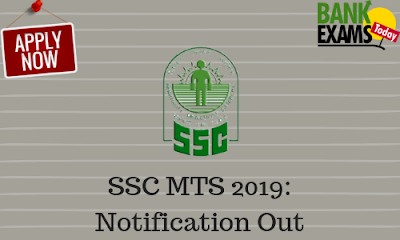 SSC MTS 2019: Notification Out