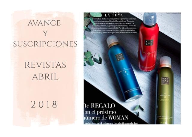avance y suscripciones regalos revistas abril 2018
