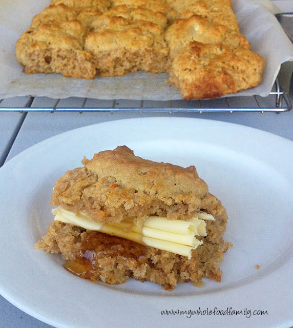 gluten free sweet potato scones - from www.mywholefoodfamily.com