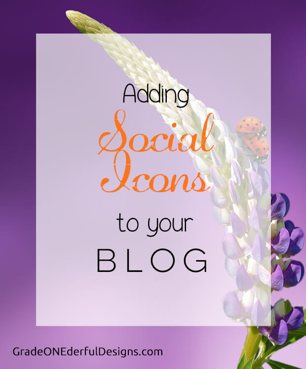 Blogger Tutorial: How to add social media icons to your blog. It's pretty easy to do. GradeONEderfulDesigns.com