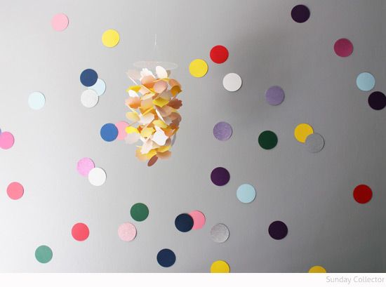 Bondville Sunday Collector Confetti Wall 1 Year Old Bedroom