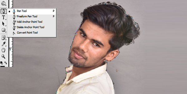 How To Use Pen Tool Inverse Problem In Photoshop Cs3 In Hindi
