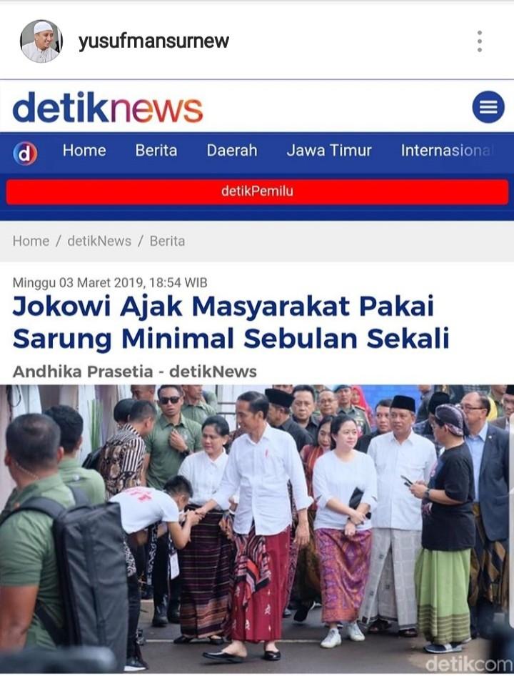 Ust Yusuf Mansur Puji 01 Lagi, Begini Ungkapan Kaget Netizen