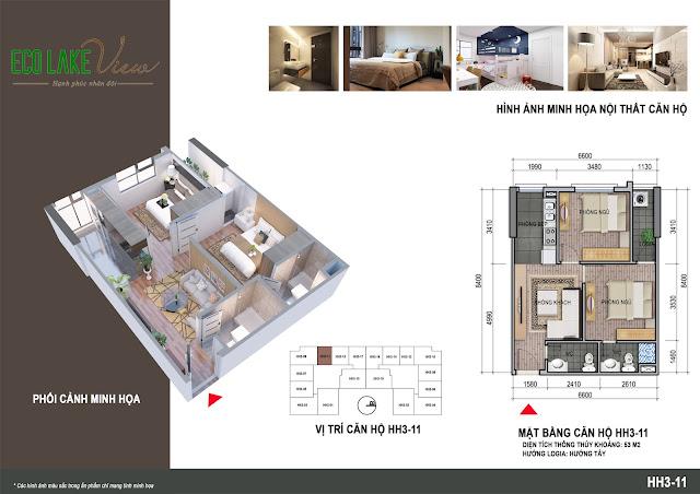 Thiết kế căn hộ số 11 tòa HH03