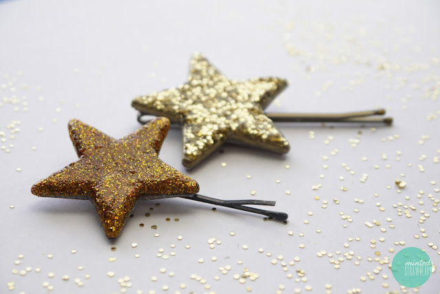 DIY-glitter-hair-pin-from-glow-in-the-dark-star