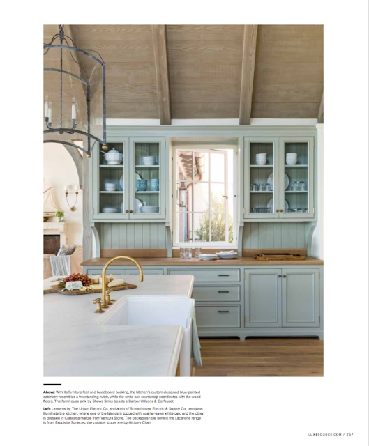 Breathtaking French Country modern farmhouse kitchen by Giannetti Home - found on Hello Lovely Studio