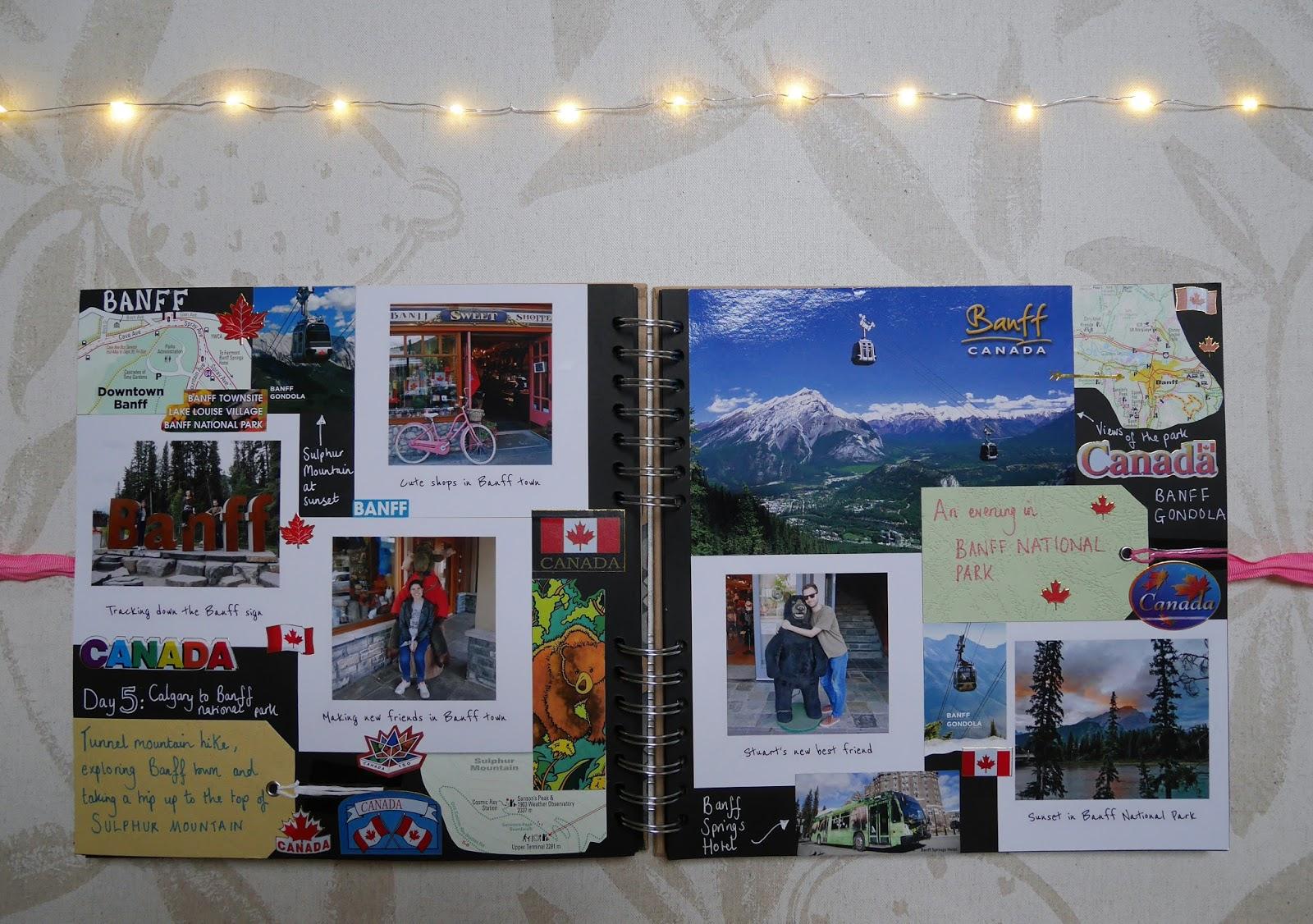 2017 travel scrapbook - Banff National Park, Canada