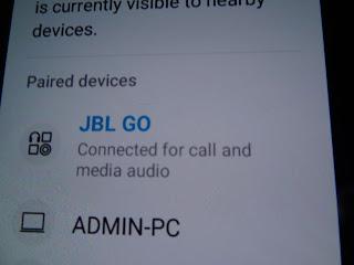 Pairing JBL Go