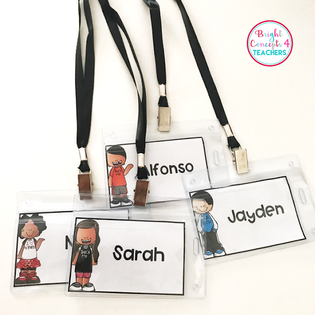 These editable student name tags are a great tool to use throughout the school year.