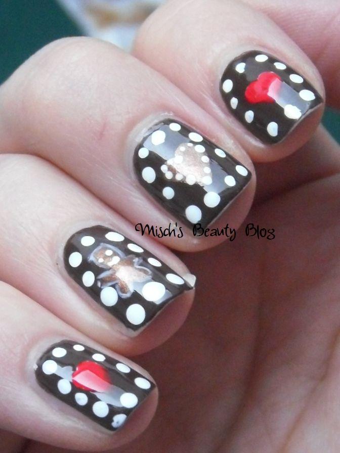Misch S Beauty Blog Notd September 29th Fall Leaf Nail Art: Misch's Beauty Blog: NOTD December 1st: Gingerbread Nail Art