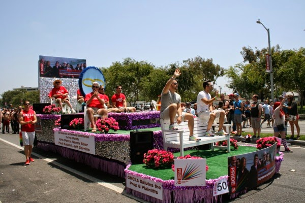 Prop 8 Plaintiffs float West Hollywood Pride Parade 2014