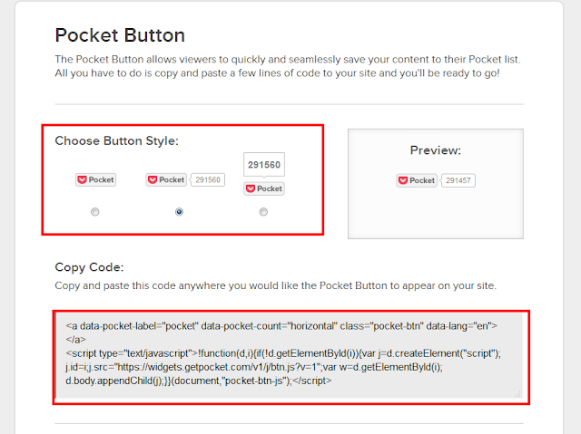 pocket share button