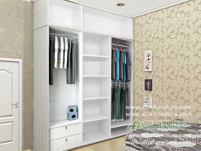 lemari pakaian minimalis 3 pintu sliding kz