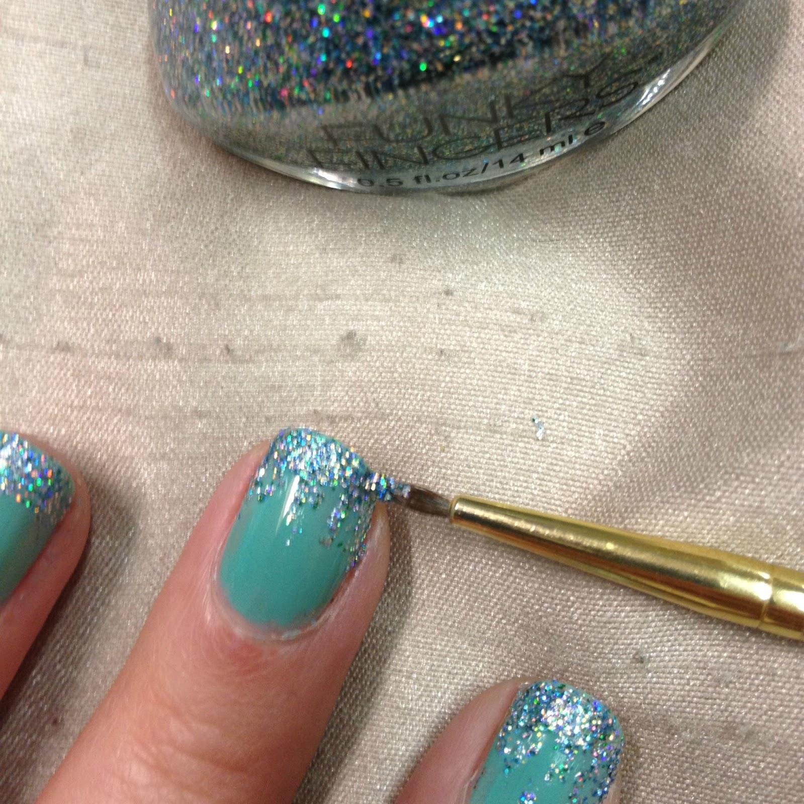 Rhinestoned Adventures Mermaid Nails